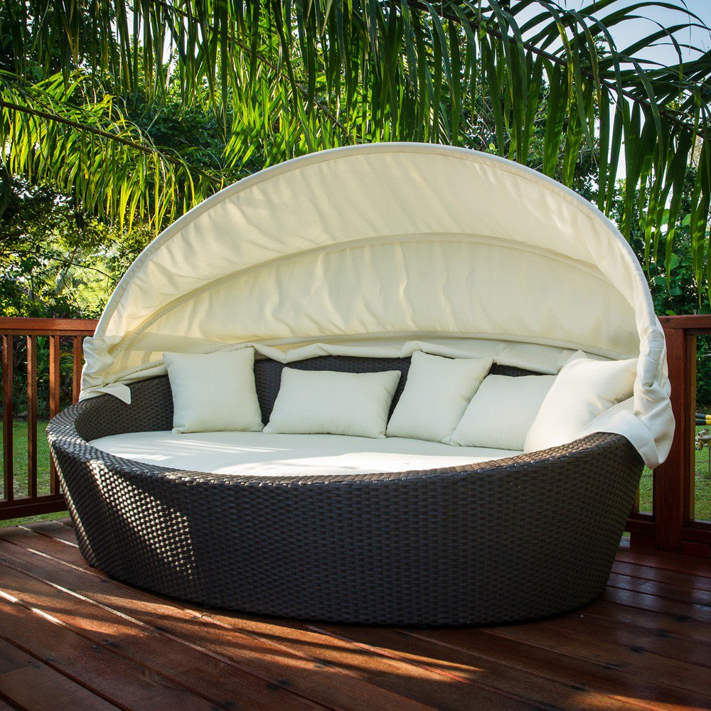 Cg170 elipse bed de tropen for Outdoor pool daybeds