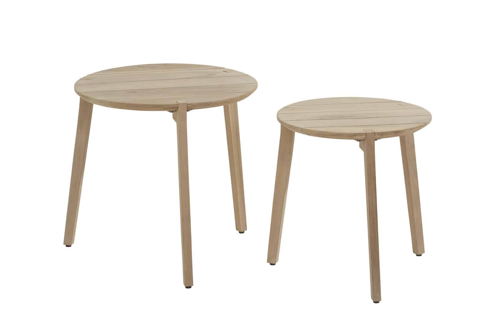 4 Seasons Outdoor Gabor Coffee Table 55cm De Tropen - Small Round Wooden Garden Coffee Table